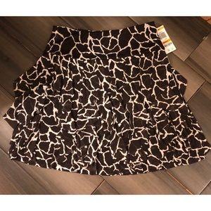 INC  Ruffled Skirt Giraffe Print
